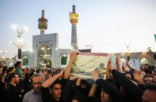 تشییع پیکر شهید مدافع حرم مجید قربانخانی در حرم مطهر رضوی
