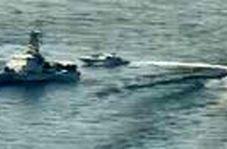 اولین تصاویر از هشدار شبانه ناوچه جنگی سپاه به ناو آمریکایی در خلیج فارس!