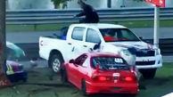 حادثهای وحشتناک در مسابقات اتومبیلرانی!