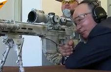 شلیک پوتین با سلاح تکتیرانداز کلاشنیکف