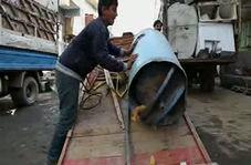 جمع آوری ضایعات آهن توسط کودکان برای تامین معاش خانواده