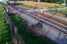 اقدام خطرناک دوچرخه سوار در عبور از تقاطع راه آهن