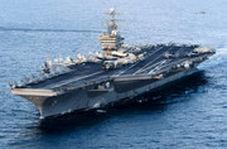مانور نظامی ناوگان آمریکا به رهبری ناو آبراهام لینکلن در خلیج فارس
