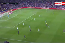 گل چهارم بارسلونا به رئال بتیس توسط جوردی آلبا