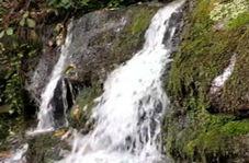 نمایی از آبشار زیبا و دوستداشتنی در «جعفرآباد»!