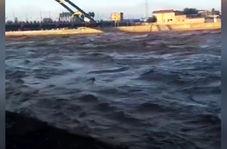 خروش رودخانه «کشکان» لرستان در پی بارشهای اخیر