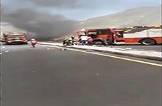 تصادف کامیونهای آتش نشان با یکدیگر حین امدادرسانی + فیلم