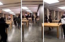 معترضان فرانسوی در شهر بوردو فروشگاه اپل را غارت کردند