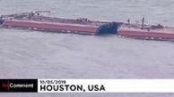 تصادف و واژگونی شناور نفتی در آمریکا