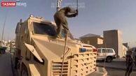 فیلم/ تخریب تجهیزات نظامی توسط نیروهای آمریکایی پیش از خروج از افغانستان