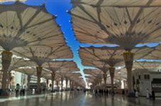 ۲۵۰ چتر غول پیکر برای فرار از گرما در مسجدالنبی