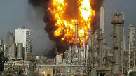 لحظه آتشسوزی تأسیسات نفتی عربستان سعودی + فیلم