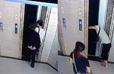 لحظه وحشتناک سقوط مرد سالخورده به داخل چاله آسانسور!