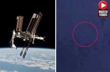 حرکت یوفوی درخشان در امتداد ایستگاه بین المللی فضایی!