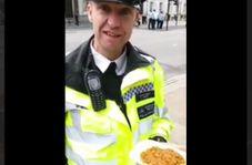 واکنش جالب پلیس لندن پس از خوردن قیمه نذری