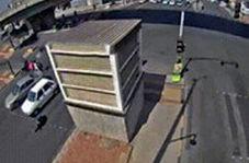 تصادف دلخراش با عابر پیاده در چهارراه ۲۵ آبان اصفهان