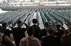 رژه حماسی و شعرخوانی دیدنی در حضور رهبرانقلاب