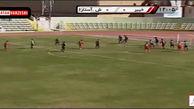 گل اول شهرداری آستارا به خیبر خرم آباد توسط سعید دلاور