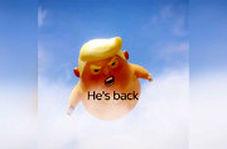 تبلیغ جنجالی شبکه اسکاینیوز برای سفر ترامپ به انگلیس