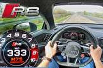 رانندگی با سرعت ۳۳۳ کیلومتر در ساعت با آئودی R8!