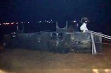 واژگونی یک اتوبوس در خراسان جنوبی بر اثر آب گرفتگی