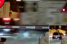 زنده ماندن معجزه آسای سرنشینان خودرو در تصادف با قطار