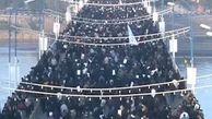 حرکت مردم اهواز به سوی مراسم تشییع پیکرهای سردار سلیمانی و همرزمان شهیدش