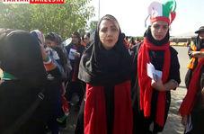فیلم/ صحبت های دختر پرسپولیسی در بازی ایران و کامبوج