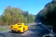 عاقبت مرگبار کورس گذاشتن خودروهای لوکس در جاده دو طرفه!