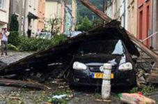 لحظات ترسناک گردباد در لوکزامبورگ
