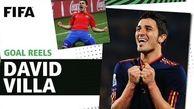 ده گل برتر داوید ویا برای اسپانیا در جام جهانی
