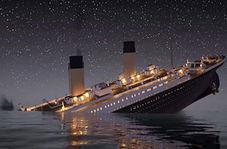 بقایای کشتی غرق شده تایتانیک در اعماق اقیانوس