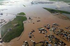 مردم گمیشان برای جلوگیری از ورود آب به روستا سد دست ساز ساختند