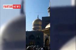 پرچم گنبد مطهر امام رضا (ع) سیاهپوش شد
